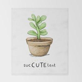 SucCUTElent Throw Blanket