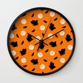 Volley Crows! Wall Clock