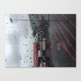 Water Drops On Plane Window Canvas Print