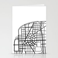 detroit Stationery Cards featuring Detroit Streets by AnnieK