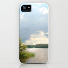 Lake view in Finland iPhone Case