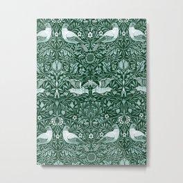 """William Morris """"Birds"""" 6. Metal Print"""