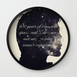 Doctor Who Eleventh Doctor Quote in Space Wall Clock