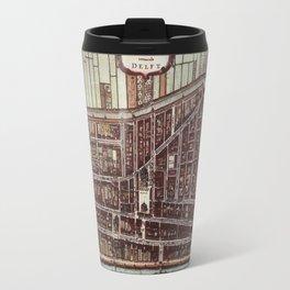 Replica city map of Delft 1649 Travel Mug