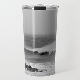 Storm over the sea coast. Travel Mug