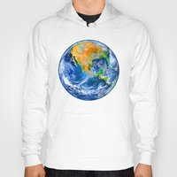 earth Hoodies featuring Earth by Marble Trouble