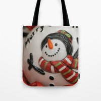 globe Tote Bags featuring Frosty Globe by IowaShots
