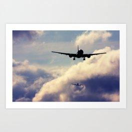 Wake turbulence Art Print