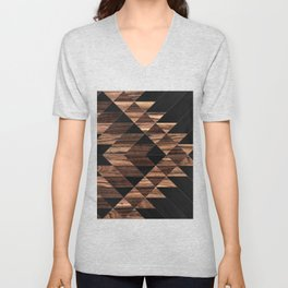 Urban Tribal Pattern No.11 - Aztec - Wood Unisex V-Neck
