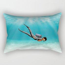 S.C.U.B.A. Diver Rectangular Pillow