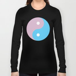 Transgender Yin Yang Symbol Long Sleeve T-shirt