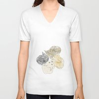 kittens V-neck T-shirts featuring kittens by GPM Arts