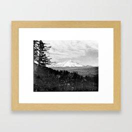 Mount Shasta, and neighboring mountain Shastina, Siskiyou County, ca.1900-1940 Framed Art Print