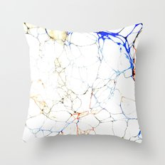 Marbled Blue Veins Throw Pillow