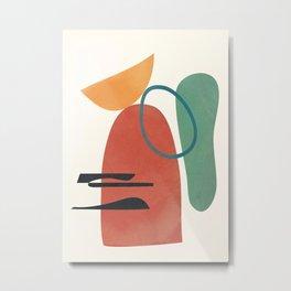 Minimal Abstract Shapes No.41 Metal Print