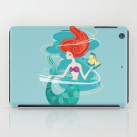 little mermaid iPad Cases featuring Little Mermaid by LindseyCowley
