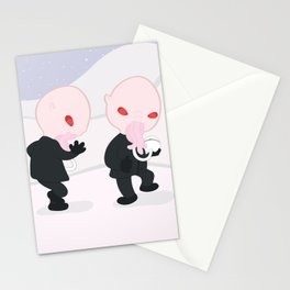 Dancing Ood Peanuts Parody Stationery Cards
