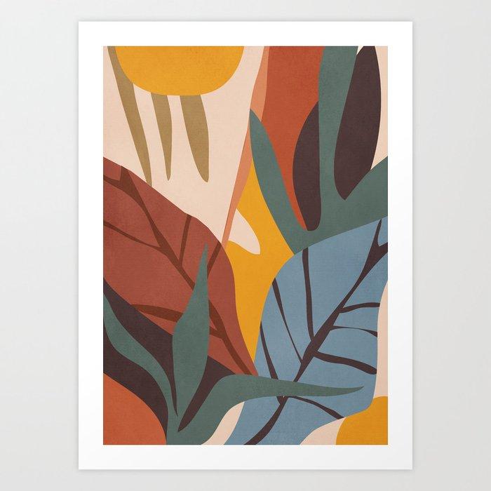 Abstract Art Jungle Art Print