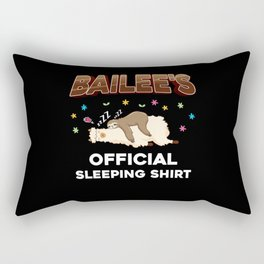 Bailee Name Gift Sleeping Shirt Sleep Napping Rectangular Pillow