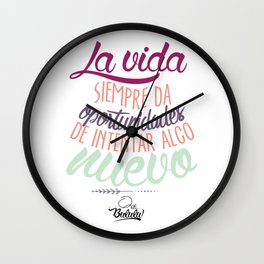 Positive Phrase (ESPAÑOL) Wall Clock