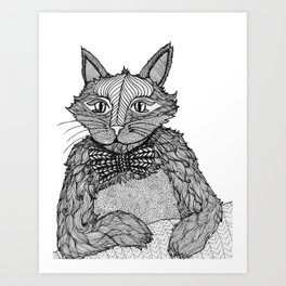 Mr. Henry in a Bow Tie Art Print