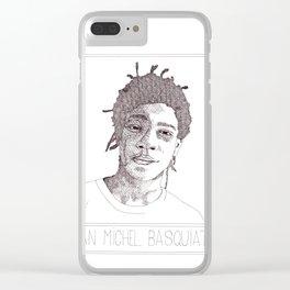 Jean-Michel Basquiat Portrait Clear iPhone Case