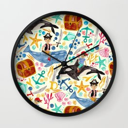 Underwater Pirates Wall Clock