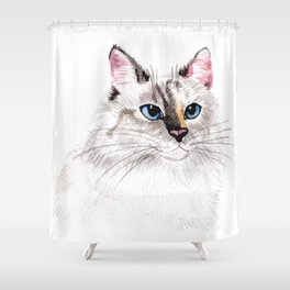 Beatiful Cat Shower Curtain