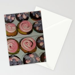 Variation of unicorn cupcake Stationery Cards
