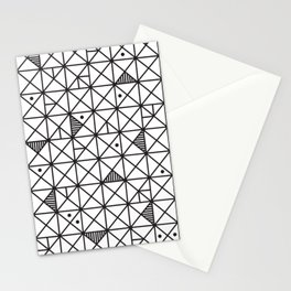 Monochrome Geometric 02 Stationery Cards