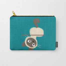 Funny Siamese Kitten upside down Carry-All Pouch