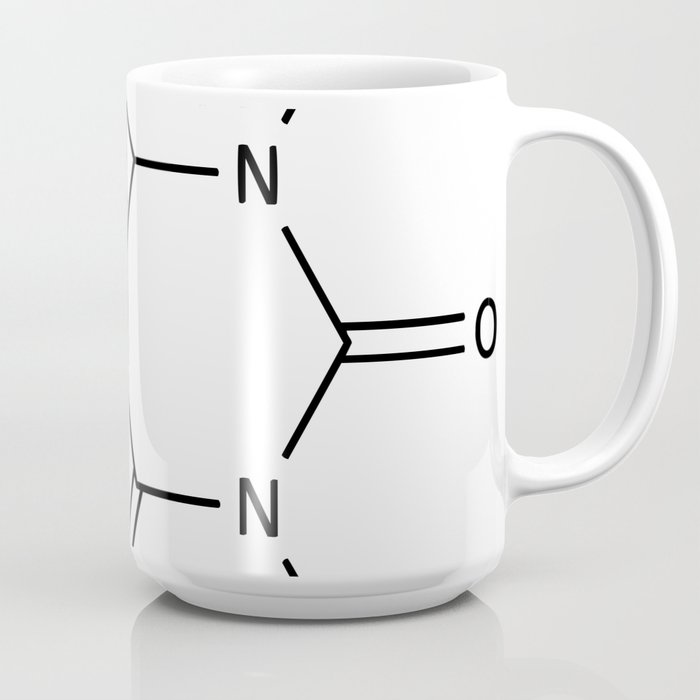 Molecular Structure of Caffeine Coffee Mug