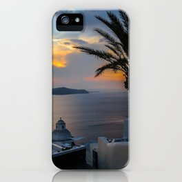 Fira,sunset,Greece iPhone Case