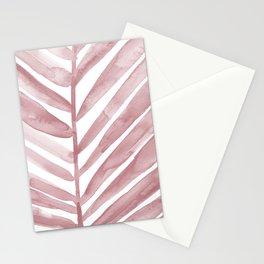 Pink Palm Leaf Crop Stationery Cards