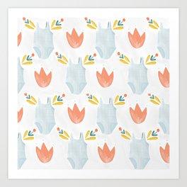 Prim Swim Art Print