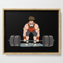 Weightlifting   Fitness Workout Serving Tray