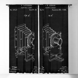 Vintage Camera Blueprint Sheet One Blackout Curtain