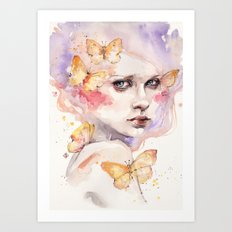 All A Flutter Art Print