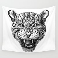 leopard Wall Tapestries featuring Leopard by BIOWORKZ