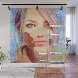 my android lover... bit her face off... can u fix her? Wall Mural