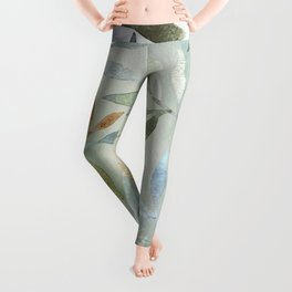 Painted Leaves Leggings