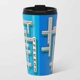 Cross Word Puzzle of Success Travel Mug