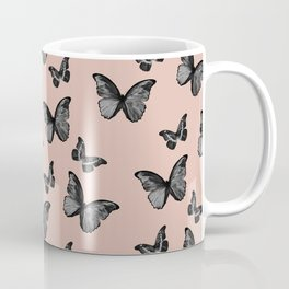 Black Pale Terracotta Butterfly Glam #1 #pattern #decor #art #society6 Coffee Mug