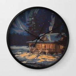 Blue Aurora Nights Wall Clock