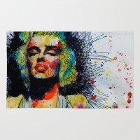 monroe Area & Throw Rugs featuring Monroe by benjamin james