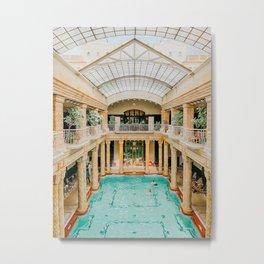 gellert bath house, budapest Metal Print