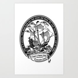 The Count of Monte Cristo Art Print