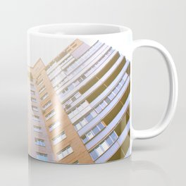 view of a multi-storey building from below Coffee Mug