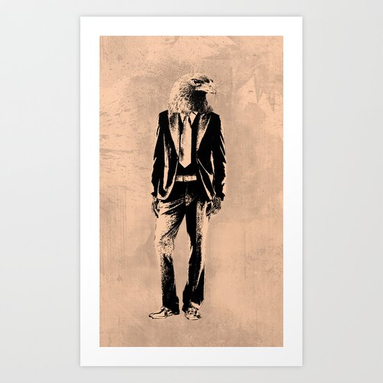 Urban Eagle Art Print