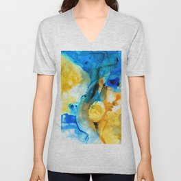Iced Lemon Drop - Abstract Art By Sharon Cummings Unisex V-Neck
